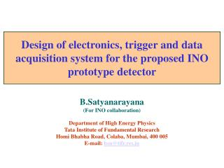 Design of electronics, trigger and data acquisition system for the proposed INO prototype detector