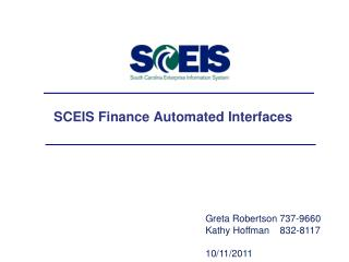 SCEIS Finance Automated Interfaces