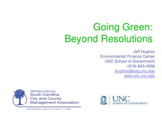 Going Green:  Beyond Resolutions