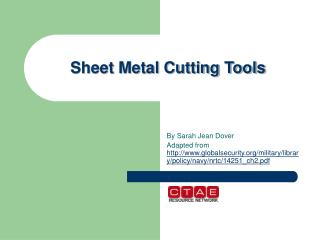 Sheet Metal Cutting Tools
