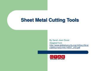 Sheet Metal Cutting Tools
