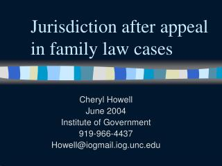 Jurisdiction after appeal in family law cases