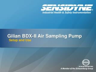 Gilian BDX-II Air Sampling Pump