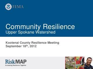 Community Resilience Upper Spokane Watershed