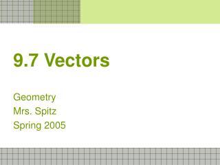 9.7 Vectors