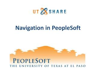 Navigation in PeopleSoft