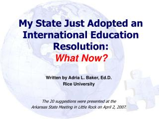 My State Just Adopted an International Education Resolution:  What Now?