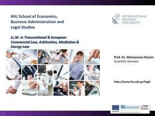 IHU School of Economics, Business Administration and Legal Studies