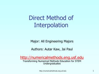 Direct Method of Interpolation