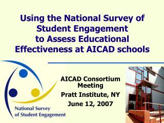 AICAD Consortium Meeting Pratt Institute, NY June 12, 2007