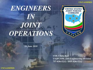 ENGINEERS IN JOINT OPERATIONS 18 June 2010