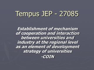 Tempus  JEP - 27085