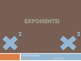 Jessica D'Agostino Lesson plan Grades  8 - 9
