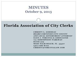MINUTES October 9, 2013