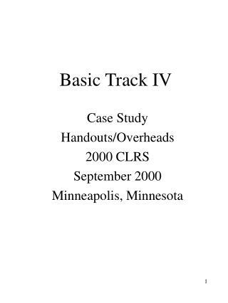 Basic Track IV