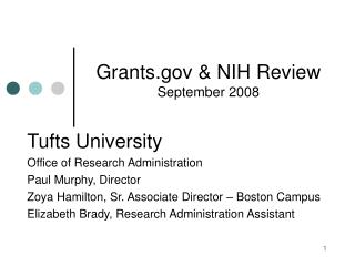 Grants  NIH Review September 2008