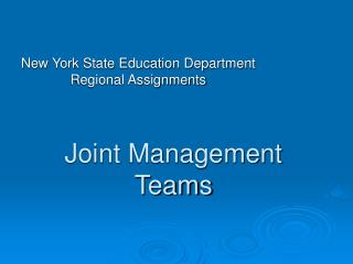 Joint Management Teams