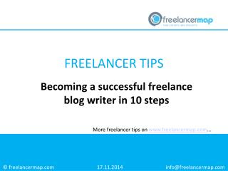 Becoming a successful freelance blog writer in 10 steps