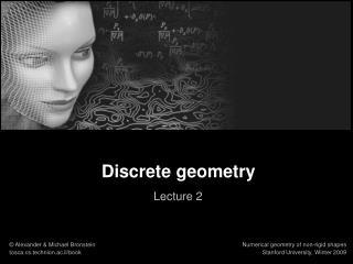 Discrete geometry