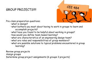GROUP PROJECTS!!!! Pre-class preparation questions: what is design?