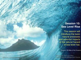 Session 10:  Sea Level Rise