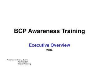 BCP Awareness Training