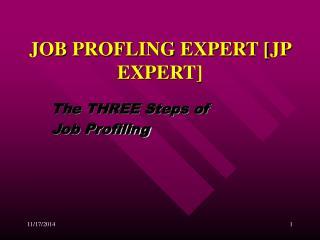 JOB PROFLING EXPERT [JP EXPERT]