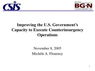 Improving the U.S. Government's Capacity to Execute Counterinsurgency Operations