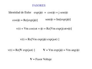 exp(j f )  =  cos( f ) + j sen( f )