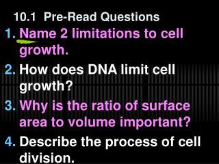 10.1  Pre-Read Questions