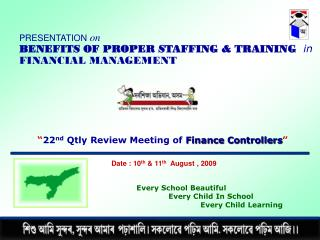 """ 22 nd  Qtly Review Meeting of  Finance Controllers """