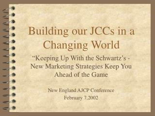 Building our JCCs in a  Changing World