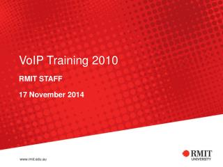 VoIP Training 2010
