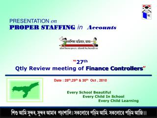 """ 27 th Qtly Review meeting of  Finance Controllers """