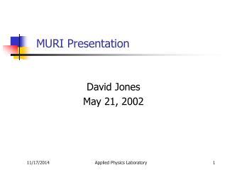 MURI Presentation