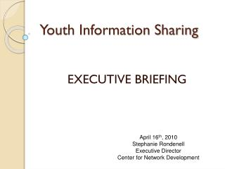 Youth Information Sharing
