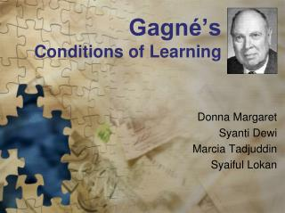 Gagné's  Conditions of Learning