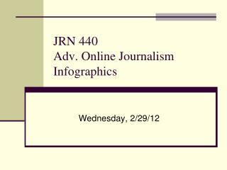 JRN 440 Adv. Online Journalism Infographics