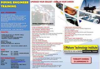 NEW  PROGRAMME : PIPING ENGINEER TRAINING....
