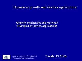 National laboratory for advanced Tecnologies and nAnoSCience