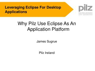 Leveraging Eclipse For Desktop Applications