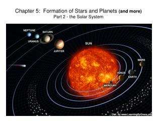 Chapter 5:  Formation of Stars and Planets  (and more) Part 2 - the Solar System