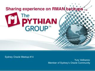 Sharing experience on RMAN backups ...