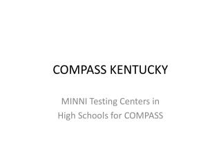 COMPASS KENTUCKY