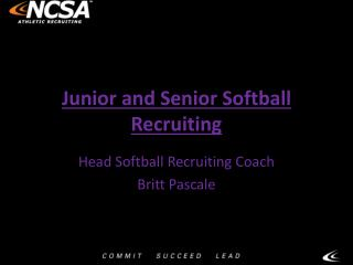 Junior and Senior Softball Recruiting