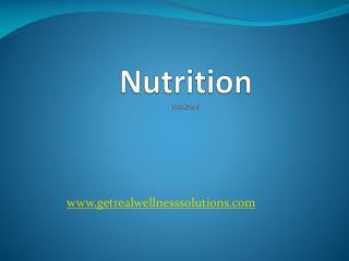 Nutrition Module 5