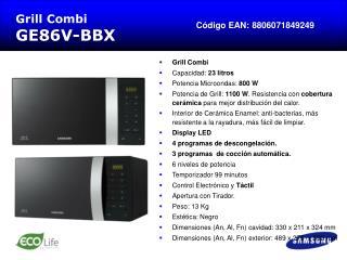 Grill Combi GE86V-BBX