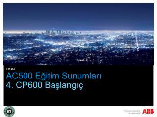 AC500 Eğitim Sunumları