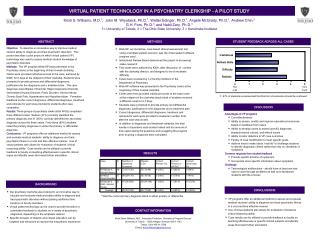 VIRTUAL PATIENT TECHNOLOGY IN A PSYCHIATRY CLERKSHIP - A PILOT STUDY