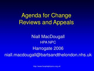 Agenda for Change  Reviews and Appeals